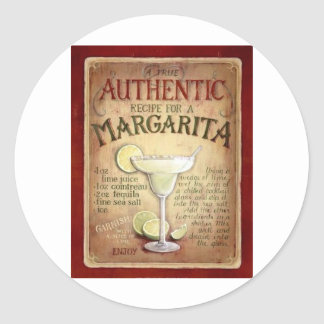 margarita recipe classic round sticker