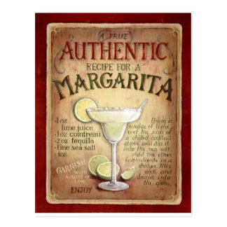 margarita recipe postcard