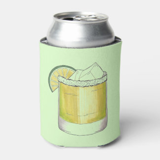 Margarita Summer Cocktail Mixed Drink Lime Green Can Cooler