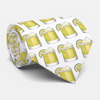 Margarita Summer Cocktail Mixed Drink Lime Print Tie