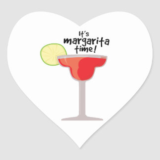 Margarita Time Heart Sticker
