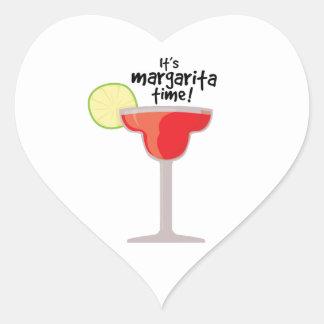 Margarita Time Heart Sticker