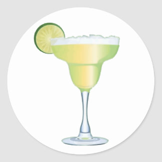 Margarita Time Round Sticker