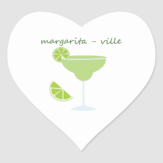 Margarita-ville Heart Sticker