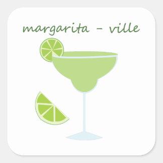 Margarita-ville Square Sticker