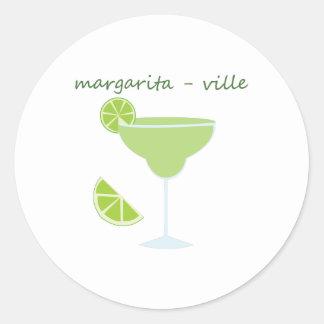 Margarita-ville Round Sticker