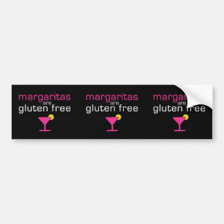 Margaritas are Gluten Free Bumper Sticker
