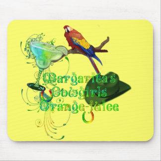 Margaritas Cowgirls Orange Juice Mousepads