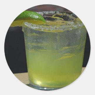 Margaritas Green Drinks Ice Cocktails Classic Round Sticker