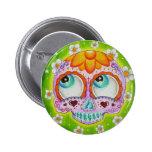 Margaritas skull 6 cm round badge