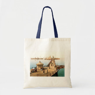 Margate Jetty Vintage British Seaside Budget Tote Bag