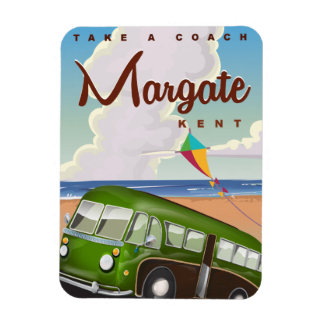 Margate Kent vintage Coach travel poster Rectangular Photo Magnet