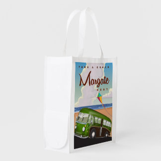 Margate Kent vintage Coach travel poster Reusable Grocery Bag