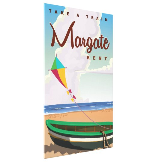 Margate Kent vintage travel poster Canvas Print