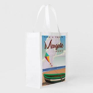 Margate Kent vintage travel poster Grocery Bags