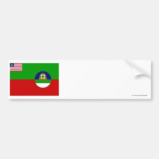 Margibi County Flag Bumper Sticker