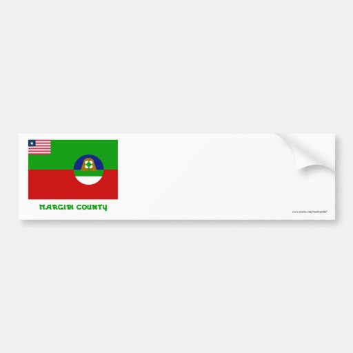 Margibi County Flag with Name Bumper Sticker