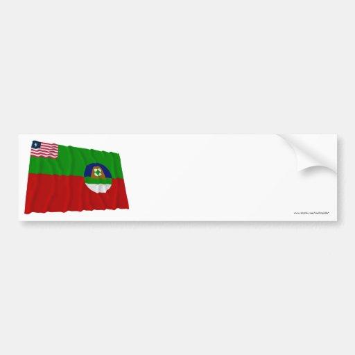 Margibi County Waving Flag Bumper Stickers