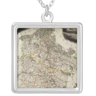 Margin illustrations silver plated necklace