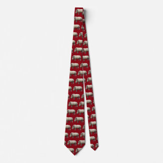 Margin rhinoceros tie