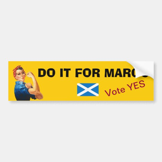 Margo MacDonald Tribute Scottish Independence Bumper Sticker