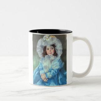 Margot in Blue, Mary Cassatt Two-Tone Mug