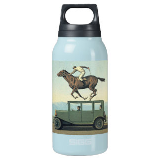 MARGRITTE HORSE RACING CAR INSULATED WATER BOTTLE