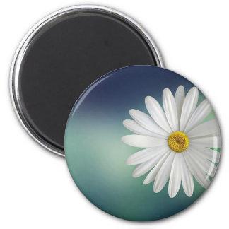 marguerite 6 cm round magnet