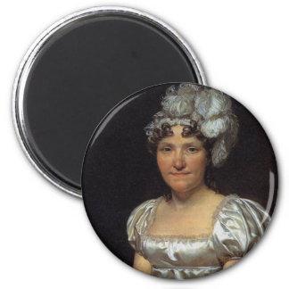 Marguerite Charlotte David 6 Cm Round Magnet
