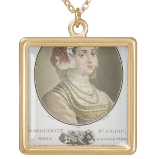 Marguerite d'Anjou (1429-82) engraved by Ride, 178 Gold Plated Necklace