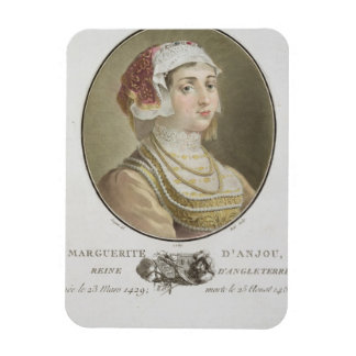 Marguerite d'Anjou (1429-82) engraved by Ride, 178 Rectangular Photo Magnet