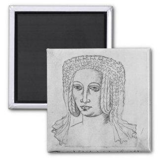 Marguerite de Brabant Square Magnet