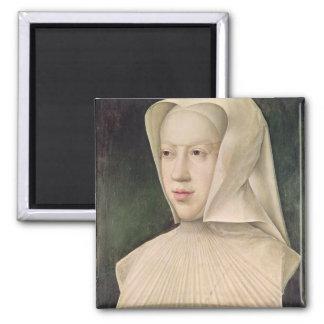 Marguerite de Habsbourg  Duchess of Savoy Square Magnet
