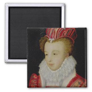 Marguerite de Valois  c.1572 Square Magnet