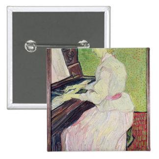 Marguerite Gachet at the Piano, 1890 15 Cm Square Badge