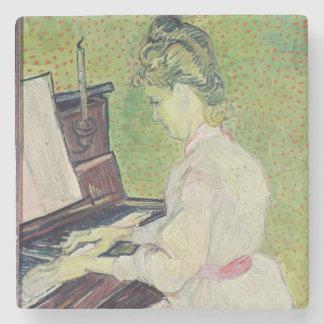 Marguerite Gachet at the Piano 1890 Stone Coaster