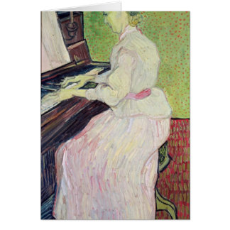 Marguerite Gachet at the Piano, 1890 Greeting Card