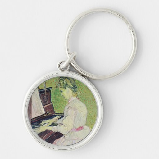Marguerite Gachet at the Piano, 1890 Key Chains