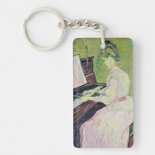 Marguerite Gachet at the Piano, 1890 Keychain