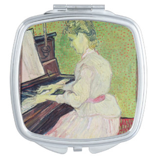 Marguerite Gachet at the Piano 1890 Compact Mirror