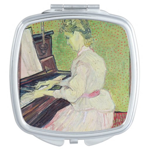 Marguerite Gachet at the Piano, 1890 Compact Mirror