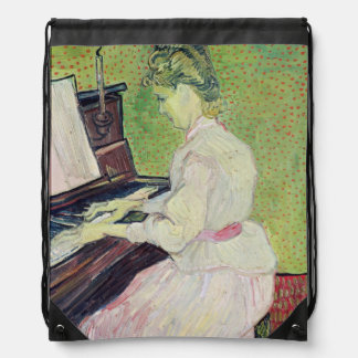 Marguerite Gachet at the Piano 1890 Drawstring Bags