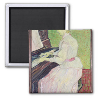 Marguerite Gachet at the Piano, 1890 Square Magnet