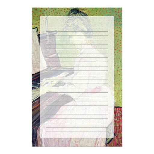 Marguerite Gachet at the Piano, 1890 Personalized Stationery