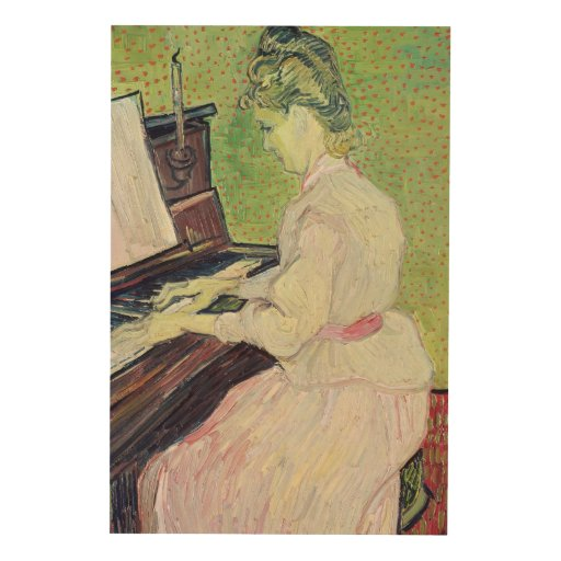 Marguerite Gachet at the Piano, 1890 Wood Canvases