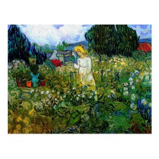 Marguerite Gachet in Garden Van Gogh Fine Art Postcard