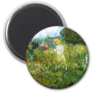Marguerite Gachet in the Garden 6 Cm Round Magnet