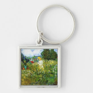 Marguerite Gachet in the Garden Silver-Colored Square Key Ring