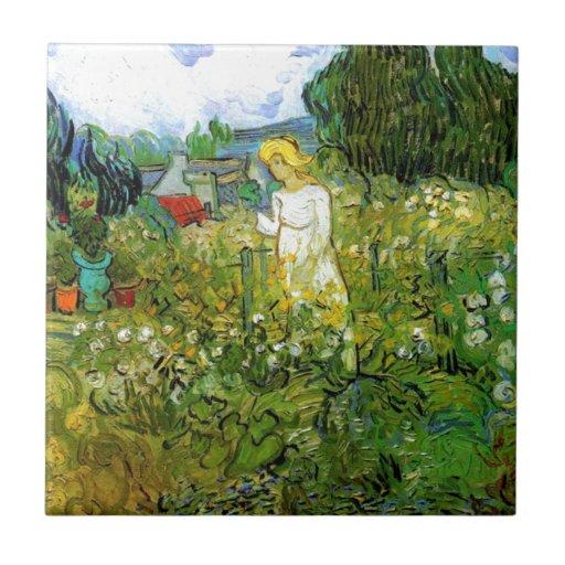 Marguerite Gachet in the Garden Tiles