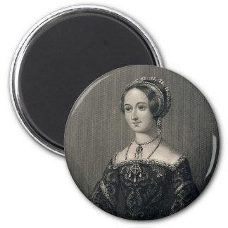 Marguerite Queen of Navarre by John J. Hinchliff 6 Cm Round Magnet